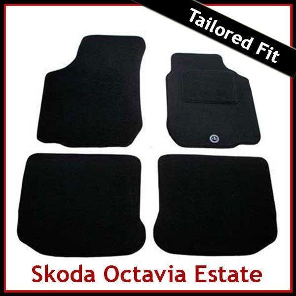 Skoda Octavia 1998-2004 Black Tailored Floor Car Mats Carpet //Rubber