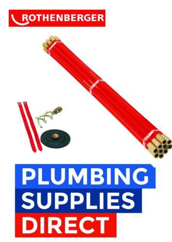 * Rothenberger Polypropylene Plumbing Drain Rods Set 13.0080-1.30080 Set