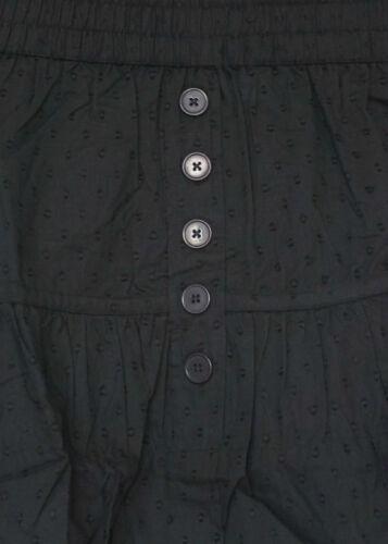 NEU niedlicher Damen Super Mini Rock in schwarz mit schönem Muster A-Line Gr.40