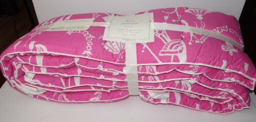 Pottery Barn Chinoiserie Baby Crib Bumper Bedding Nursery Pink NEW