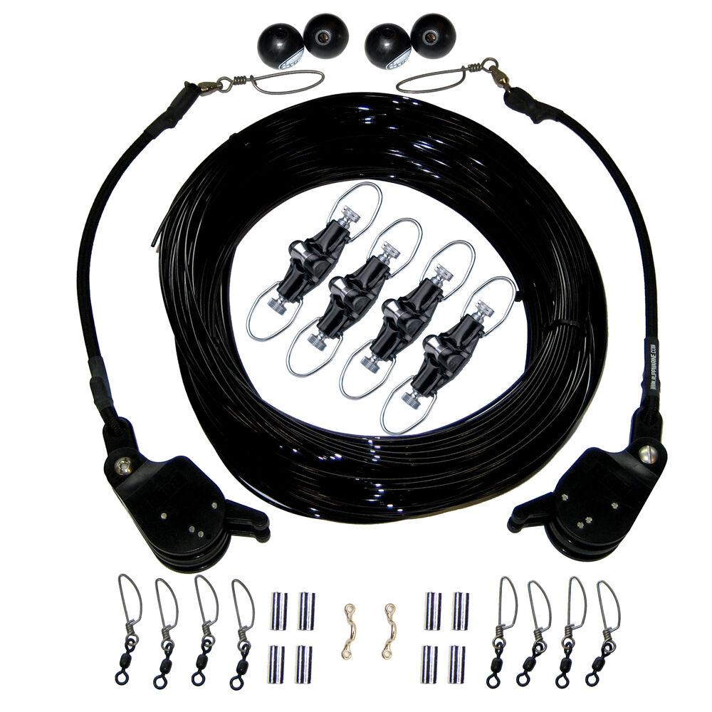 Rupp double Rigging Kit avec Lok-UPS & NOK-Outs - 260' noir Mono