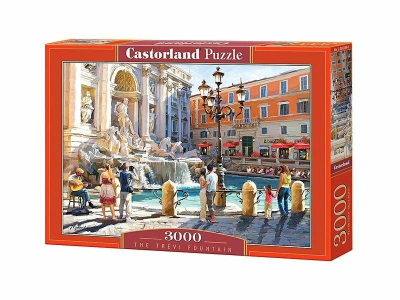 Castorland Puzzle 3000 Pieces - The Trevi Fountain 36  x 27  Sealed box C-300389