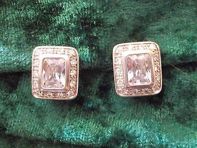 Ohrclips Ohrschmuck Silber 925 Zirkonia toll besetzt