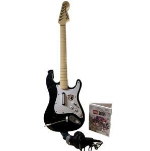 Nintendo Wii Rockband Fender Stratocaster Guitar Lego Game Microphone NO DONGLE