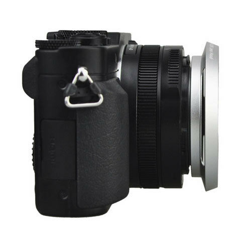 LH-43LX100 Metal Lens Hood Shade Panasonic LUMIX DMC-LX100 LEICA D-LUX 109 Silve