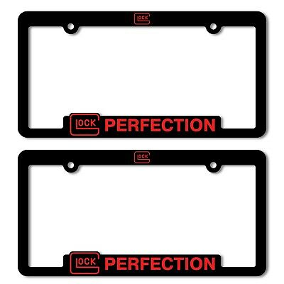 Glock Perfection Auto Truck License Plate Black