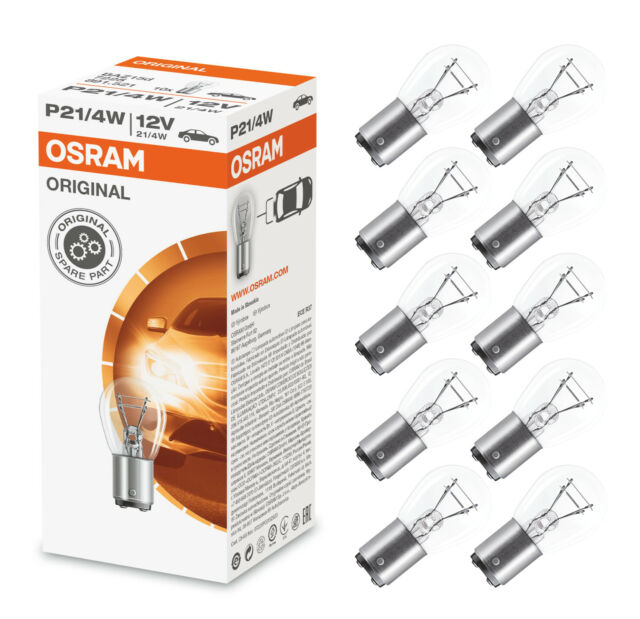 10x OSRAM p21/5w bay15d Luce del freno Lampada sfera lampada incandescenza 12v 21/5w 7528 BOX