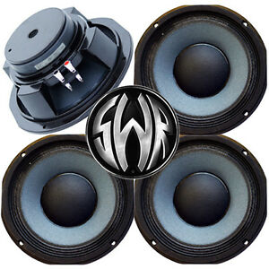 4-pack-10-034-8-Ohm-Eminence-SWR-Goliath-Woofer-Midbass-Bass-Guitar-Speaker-USA