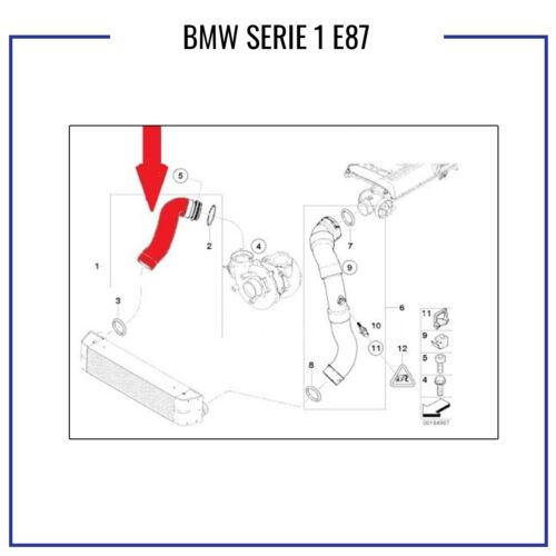 MANICOTTO INTERCOOLER TUBO ARIA BMW SERIE 1 E87 11617791663 11617800967