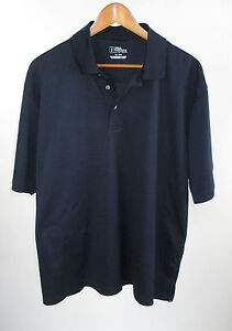 Men-039-s-PGA-Tour-Navy-Blue-Golf-Polo-Shirt-Size-XL