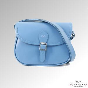 Bag Chapman nms10sl Baby Leather Shoulder Saddle Blue 077xq1Bv