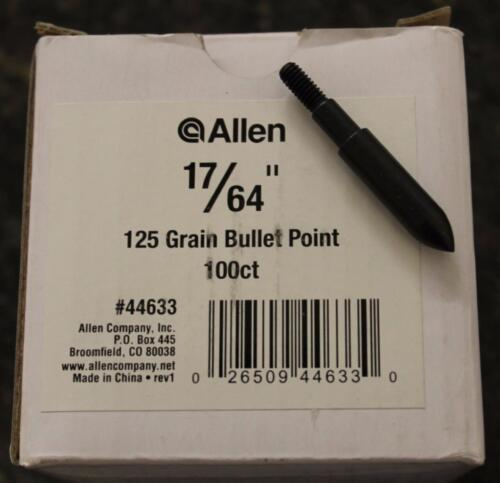 "17//64/"" Allen Field Points Bullet Point 125 Grains 100 Pieces #44633 BRAND NEW"