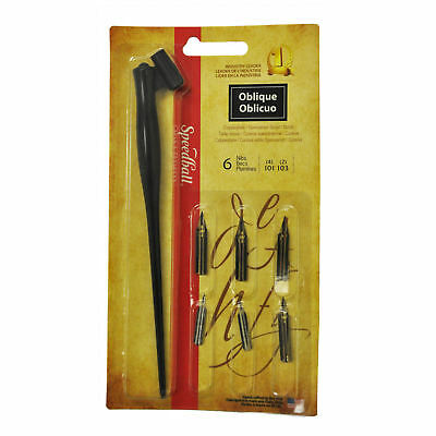 Speedball Calligraphy Dip Pen Oblique Lettering Set