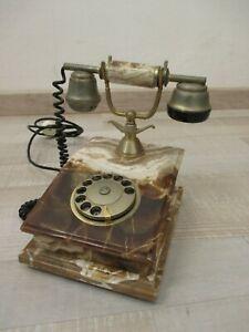 Telefono-vintage-in-marmo-funzionante-stile-antico-molto-bello