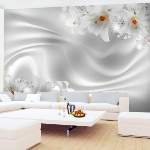 Vlies Fototapete Blumen Lilien Tapete Bilder XXL 3D Optik Wohnzimmer