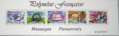 Australien, Ozean. & Antarktis French Polynesia Polynesien 1989 Block 16 518 Messages Grußmarken Greetings Mnh Moderater Preis