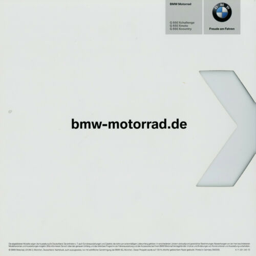 BMW G 650 XCHALLENGE XCOUNTRY XMOTO PROSPEKT 9//06 opuscolo MOTO 2006 bikes