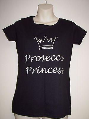 Prosecco Princess Ladies Slogan Slim Fit T-Shirt