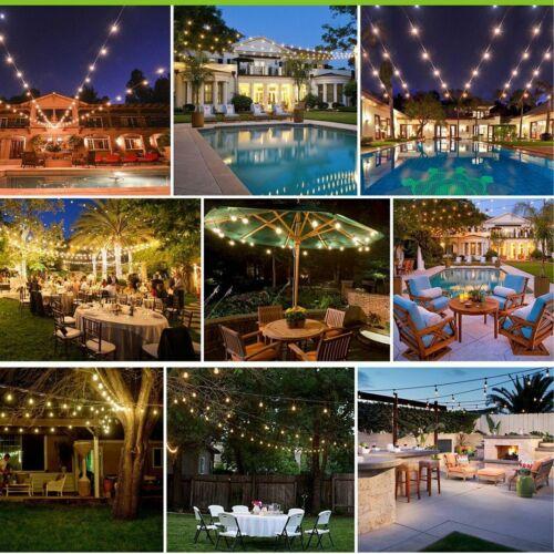 30M LED Außen Glühbirne Lichterkette Retro Wasserdicht 30 2W Birnen Garten Licht
