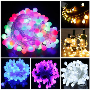 Electric Plug In 33ft 100led Berry Ball Xmas Bulb Fairy