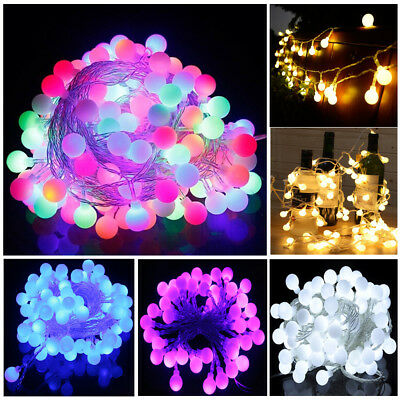 10M 100 LED Mains Plug-In Multicolor Festoon Fairy String Berry Balls In//Outdoor