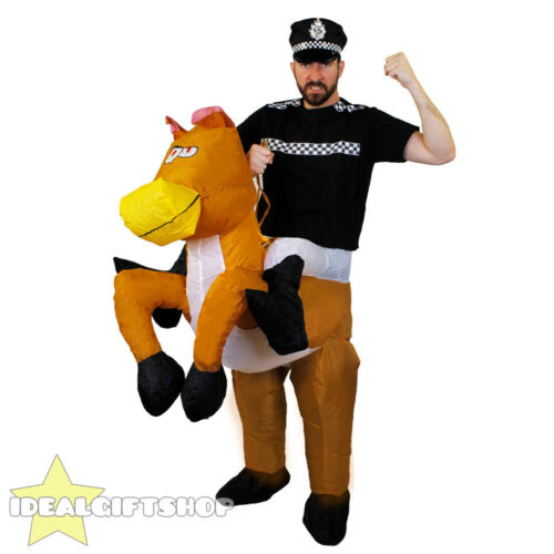 INFLATABLE HORSE RIDING FANCY DRESS RIDE ON SUIT NOVELTY STAG DO FUNNY COSTUME