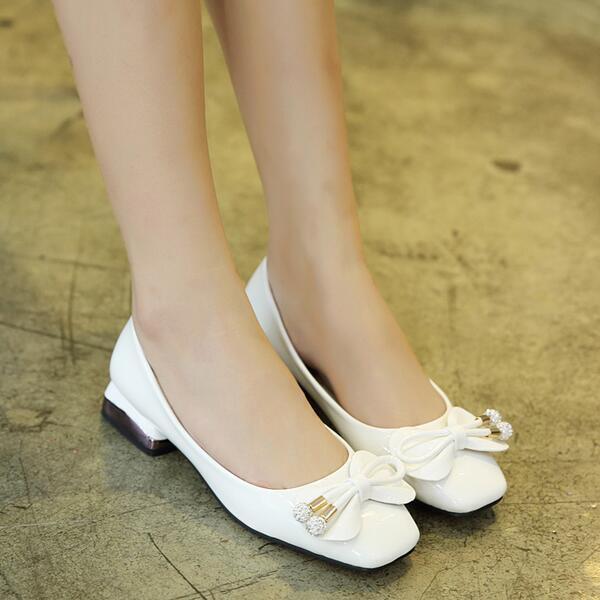 Ballerine mocassini scarpe pelle donna basse bianco lucido  simil pelle scarpe comode 8401 7eb50e