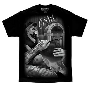 Chillin-Barber-Shop-Fresh-Cut-David-Gonzales-DGA-T-Shirt