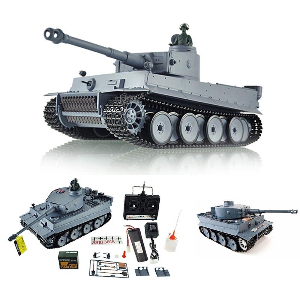 Rauch + Sound + Schuss RC Panzer German Tiger Heng Long 1 16 Kampfpanzer Fernges