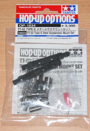 TT02 Type-S DRIFT Tamiya 54634 TT-02 Type-S in acciaio Sospensione Mount Set Nuovo con imballo