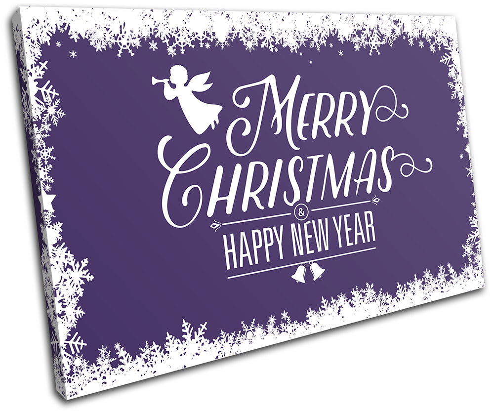 Christmas Decoration Wall Canvas ART Print XMAS Picture Gift  09 violet Christma