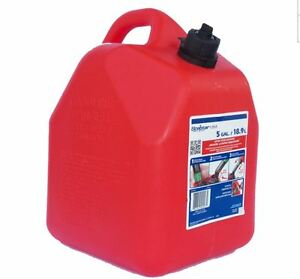 5-Gallon Plastic Gasoline Can Gas Red Plastic Fuel Spout Spill-Proof Vent Tools