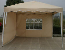 Faltpavillon wasserdicht Alu blau 3x3 Gartenpavillon mit 2 Seitenteile Pavillon