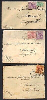 Australien Australien, Ozean. & Antarktis Australien Victoria 1890-1900 3 Cvr Nagambie N Melbourne Alle Zu Aarau Schweiz Verbraucher Zuerst