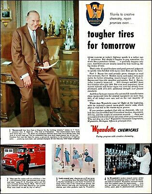Wyandotte Chemicals Vintage Photo Print Ad Adl79 Factories And Mines 1958 A.c Scott-alger Co