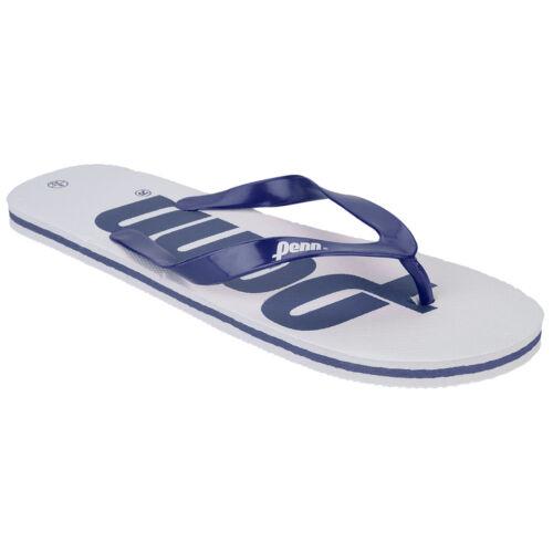 Mens Penn Logo Textured Slip On Summer Beach Bathroom Garden Flip Flops Size