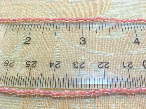 #061112n Vtg 1 HANK 3 CUT ROSE LINED GLASS SEED BEADS 9//0 CZECH THEM OUT