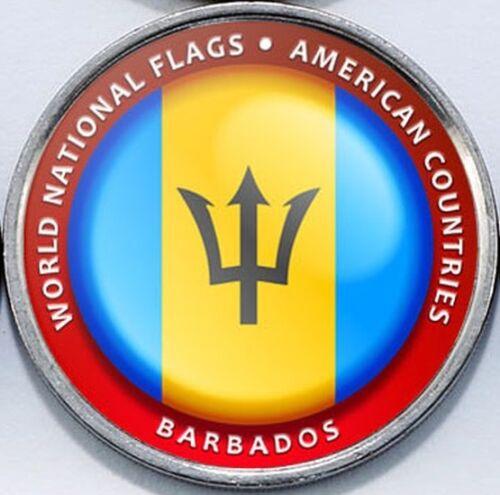 Barbados Bougainville Island 1 Dollar 2017 UNC Flag unusual coinage