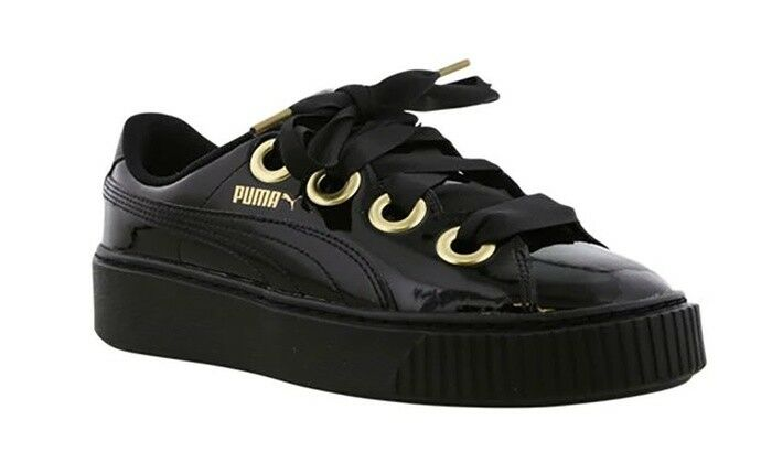 New Puma Kiss Black gold Women's Trainers Size 5