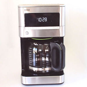 New Braun KF7170 Programable Coffee Maker Brew Sense Drip Black Stainless Steel eBay