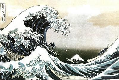 """Surfing Big Wave Silk Wall Posters Motivational Poster 13x20 24x36/"""" inch 003"""