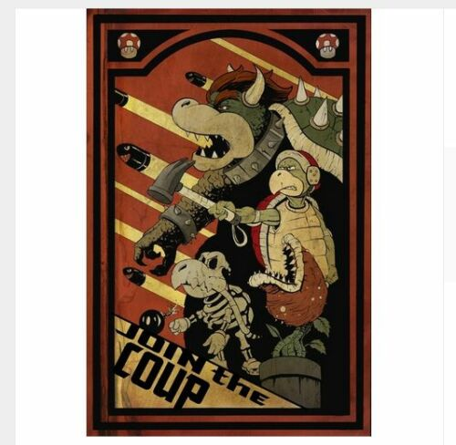 Wall Poster Hanging Picture Vintage Retro Cafe Funny Super Mario Game Propaganda