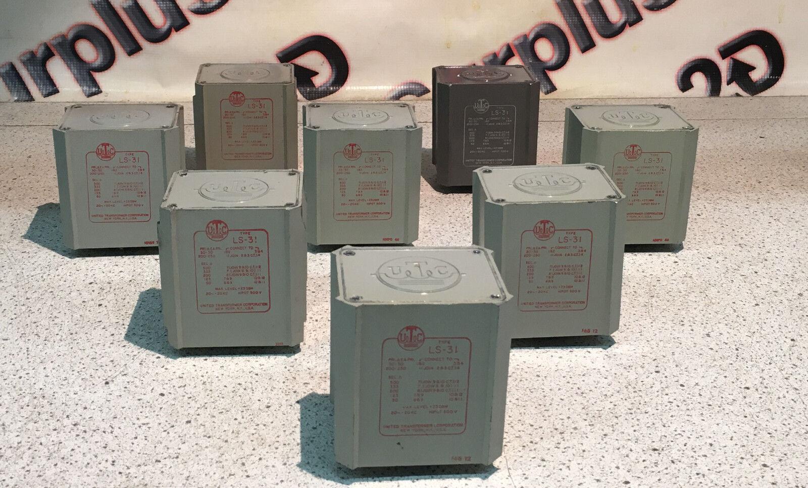 UTC LS-31 low impedance audio transformers