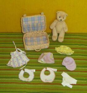 2003 Rare Bitty Bunch Dress-Up Set & Bitty Bear - Suitcase Bitty Baby Doll