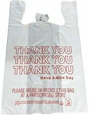 T Shirt Carry Out Retail Grocery Thank You Plastic Shopping Bags 350 Count New