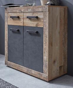 Kommode Sideboard in Used Wood grau Flur Wohnzimmer ...