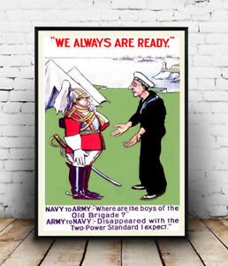 We-are-Always-ready-Old-political-poster-Wall-art-poster-reproduction