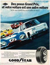 PUBLICITE ADVERTISING 0105  1970   pneus GOODYEAR G 800 Grand Prix R8 Renault