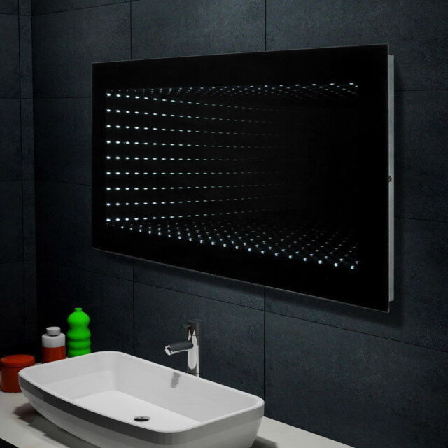 Badezimmerspiegel 120 Cm.3d Badezimmerspiegel Spiegel Flurspiegel Wandspiegel Led Badmobel 120x60cm Gunstig Kaufen Ebay