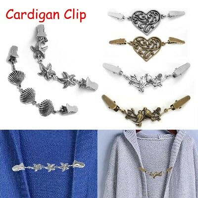 Ladies Retro Cardigan Clip Sweater Blouse Pin Shawl Clips Duck Clip Clasps